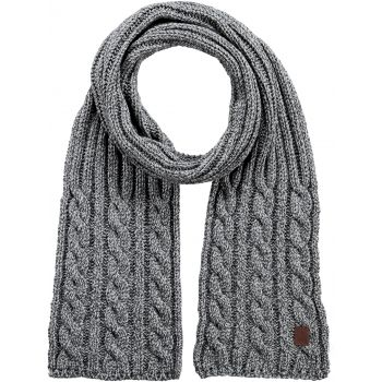 Barts TWISTER SCARF HEATHER GREY ONE SIZE, šal, siva