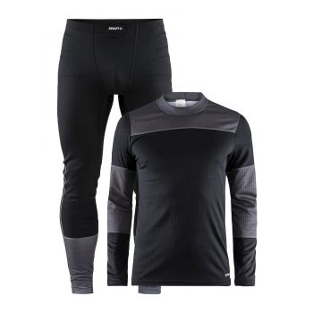 Craft BASELAYER SET M, muški donji veš set, crna