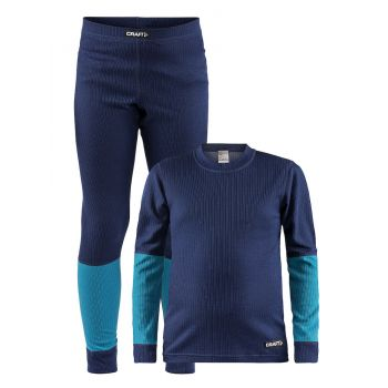 Craft BASELAYER SET J, dečji donji veš set, plava