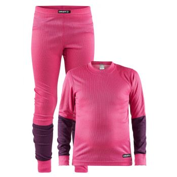 Craft BASELAYER SET J, dečji donji veš set, pink