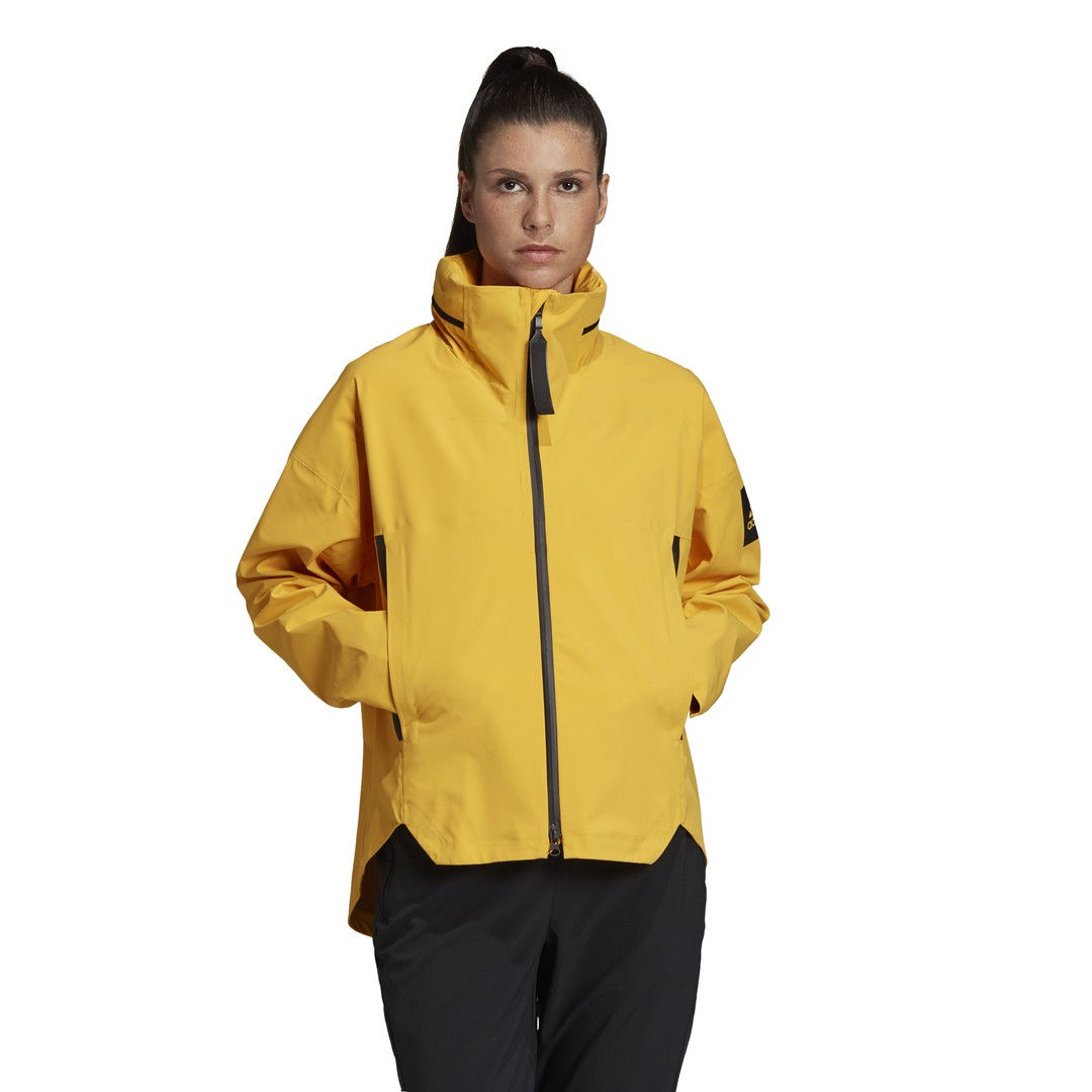 adidas W MYSHELTER JKT, ženska jakna a planinarenje, žuta