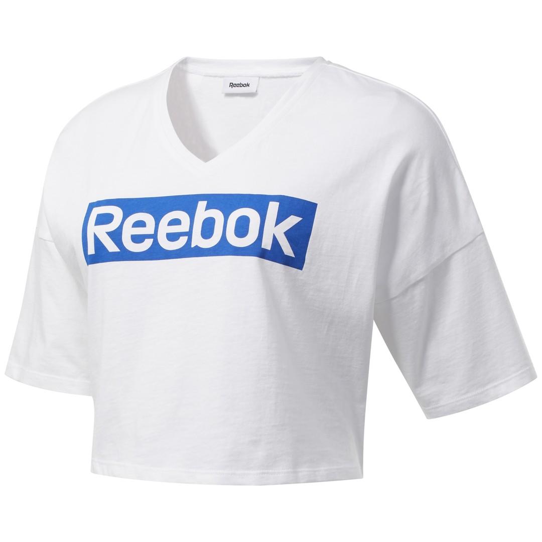 Reebok TE LINEAR LOGO GRAPHICTEE, ženska majica, bela