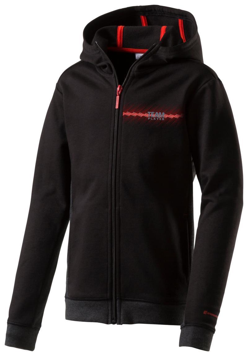 Energetics LENNY JRS, dečja jakna za fitnes, crna