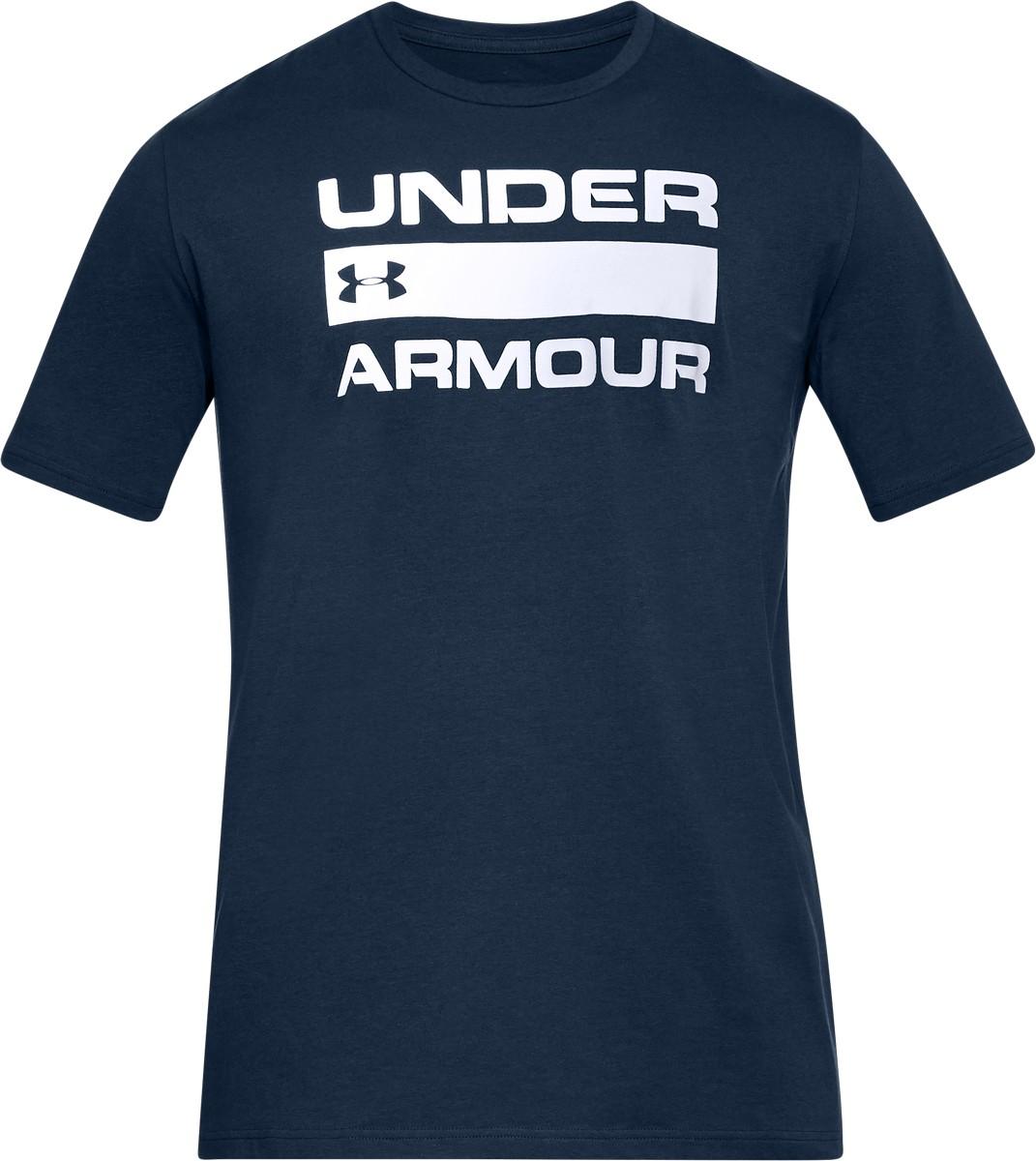 Under Armour TEAM ISSUE WORDMARK-ADY/WHT/GPH, muška majica za fitnes, plava