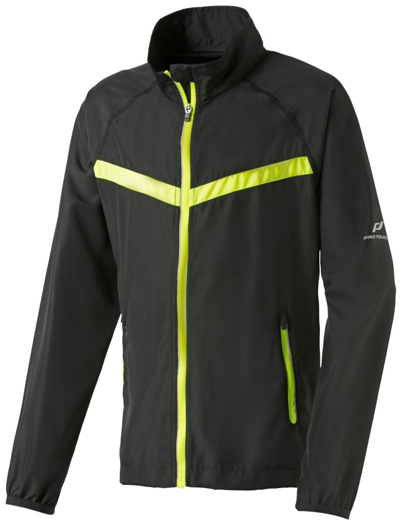 Pro Touch TOBAGO II JRS, dečja jakna za trčanje, crna